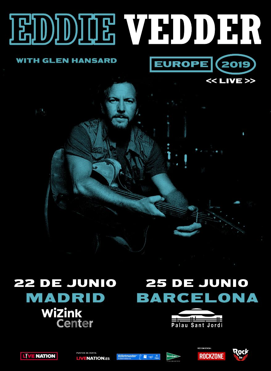 EDDIE VEDDER MADRID BARCELONA